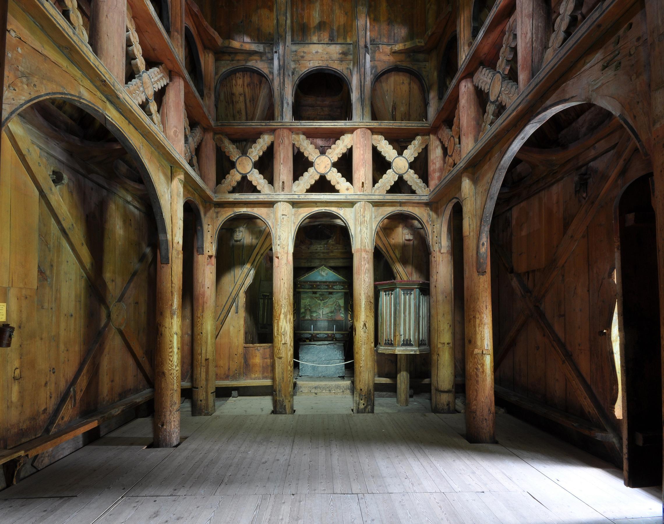 borgund-stave-church-interior